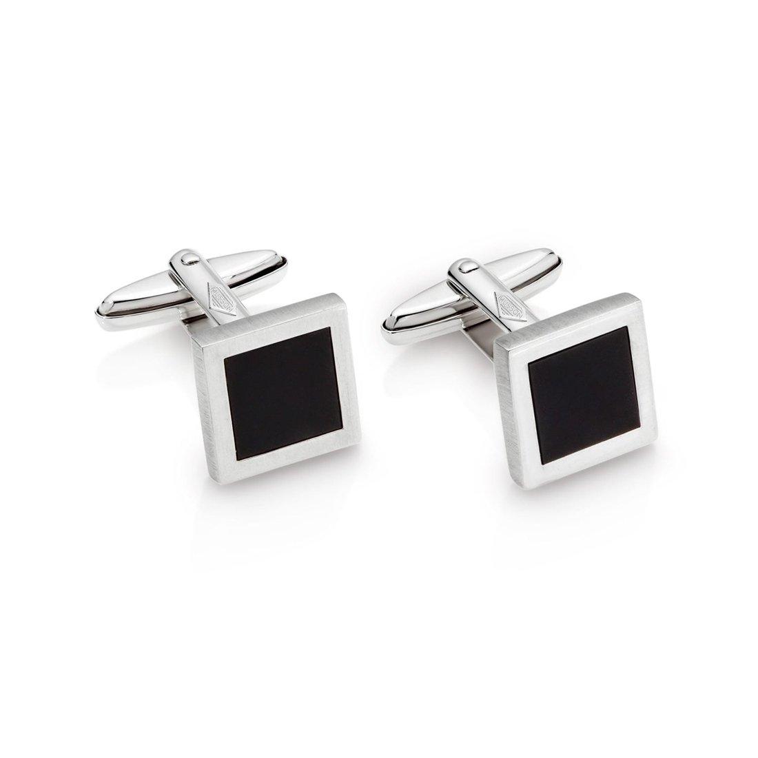 Silver & Onyx Links