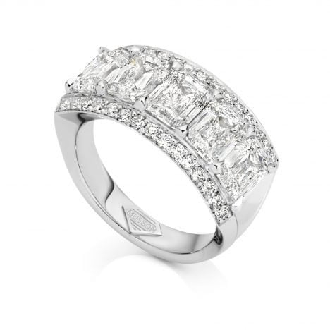 Vivid Bridge Couture Diamond Ring