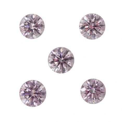 5=0.25ct Natural Fancy Purplish Pink, 6P Argyle Diamond