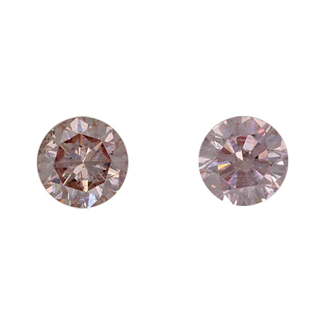 2=0.49ct Natural Fancy Light Pink, 7P Argyle Diamond