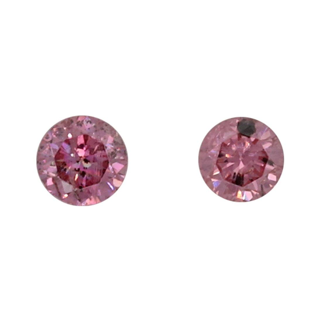 2=0.08ct Natural Fancy Deep Purplish Pink, 4P, I2, Argyle Pink Diamond