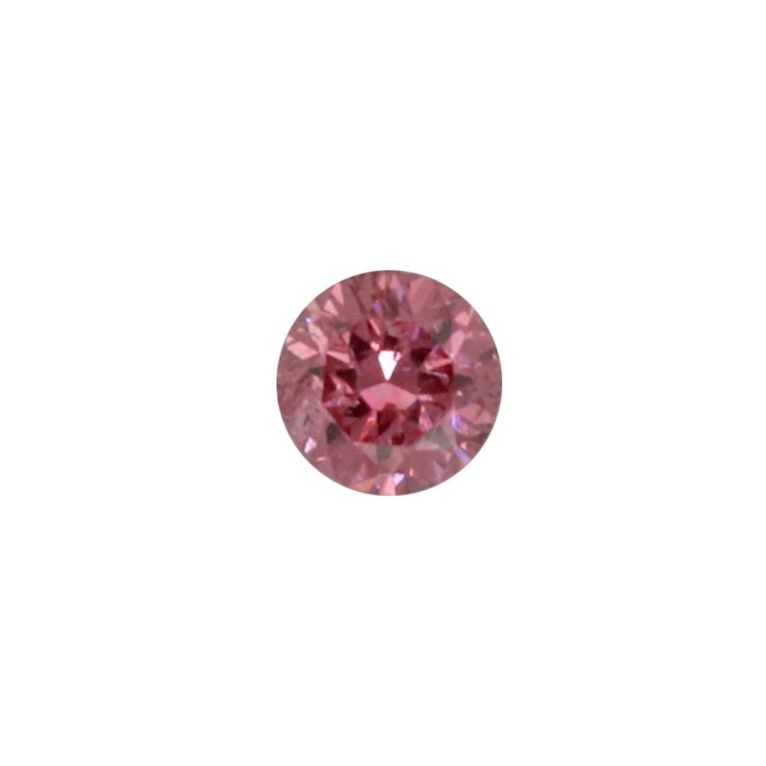 0.04ct Natural Fancy Vivid Purplish Pink, 2P, I1, Argyle Pink Diamond