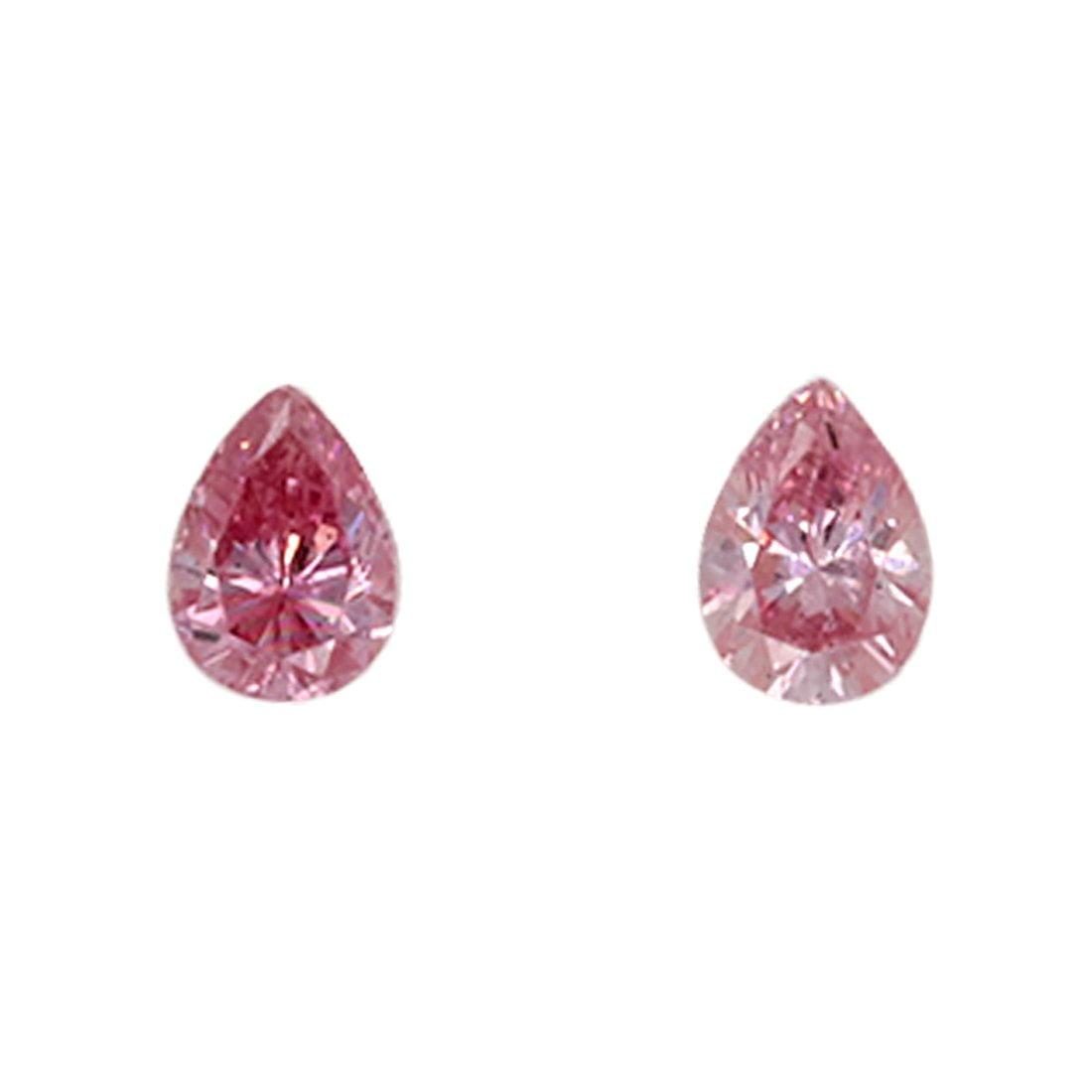 2=0.09ct Natural Fancy Pink - Fancy Intense Purplish Pink, 5PP Argyle Diamond