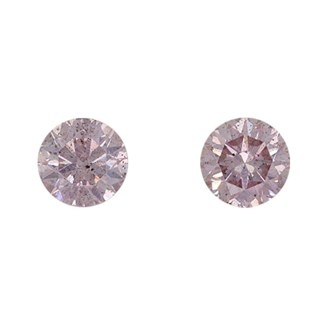 2=0.38ct Natural Fancy Light Pink, 8P, I1, Argyle Pink Diamond