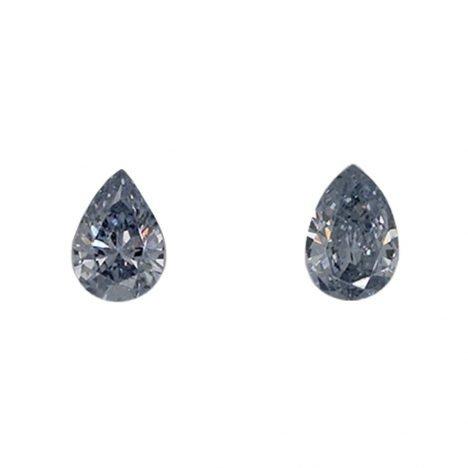 2=0.12ct Natural Fancy Light Bluish Grey, BL1 Argyle Diamond