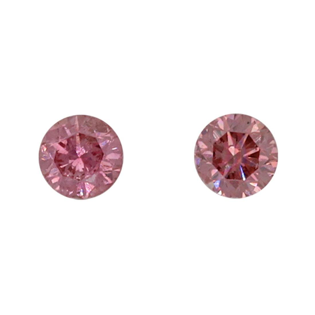 2=0.08ct Natural Fancy Deep Pink / Fancy Purplish Pink, 4PP, SI2, Argyle Pink Diamond