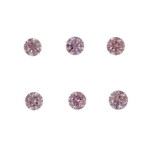6=0.24ct Natural Fancy Pink, 6P Argyle Diamond