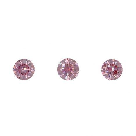 3=0.20ct Natural Fancy Intense Purplish Pink, 5PP Argyle Diamond