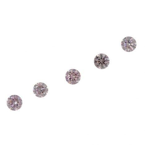 5=0.27ct Natural Fancy Pink, 7P Argyle Diamond