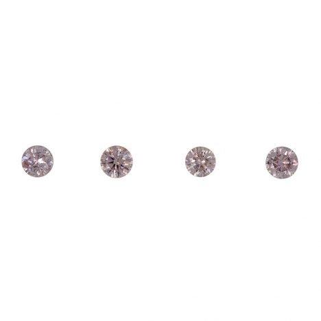 4=0.16ct Natural Fancy Pink/Purplish Pink, 7P Argyle Diamond