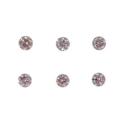 6=0.26ct Natural Fancy Light Pink, 7P, SI2, Argyle Pink Diamond