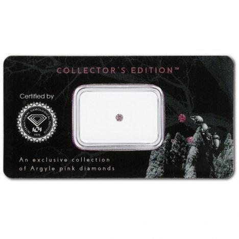 0.07ct Natural Fancy Intense Pink, 6P Argyle Diamond