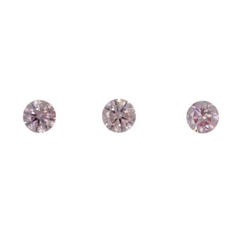 3=0.21ct Natural Fancy Intense Pink, 6P, SI2, Argyle Pink Diamond