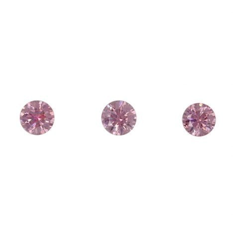 3=0.15ct Natural Fancy Vivid Pink, 3P Argyle Diamond