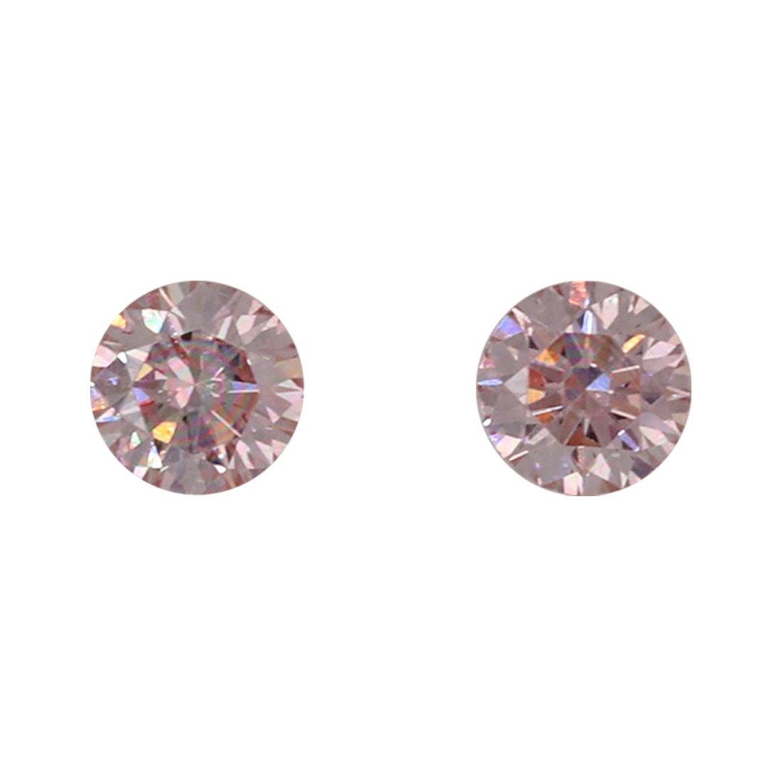 2=0.15ct Natural Fancy Pink, 6P Argyle Diamond