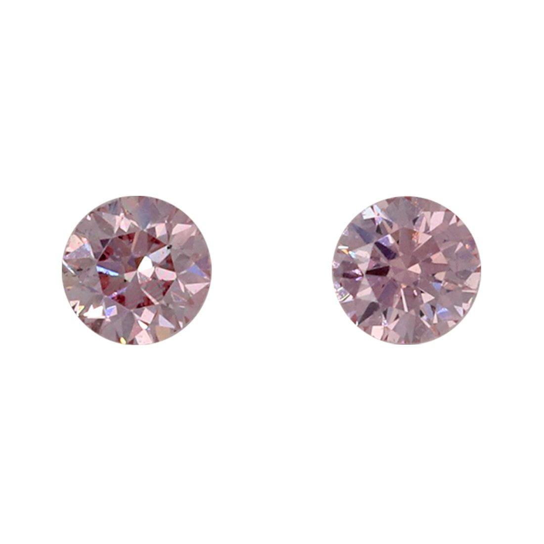 2=0.14ct Natural Fancy Intense Purplish Pink, 6P Argyle Diamond
