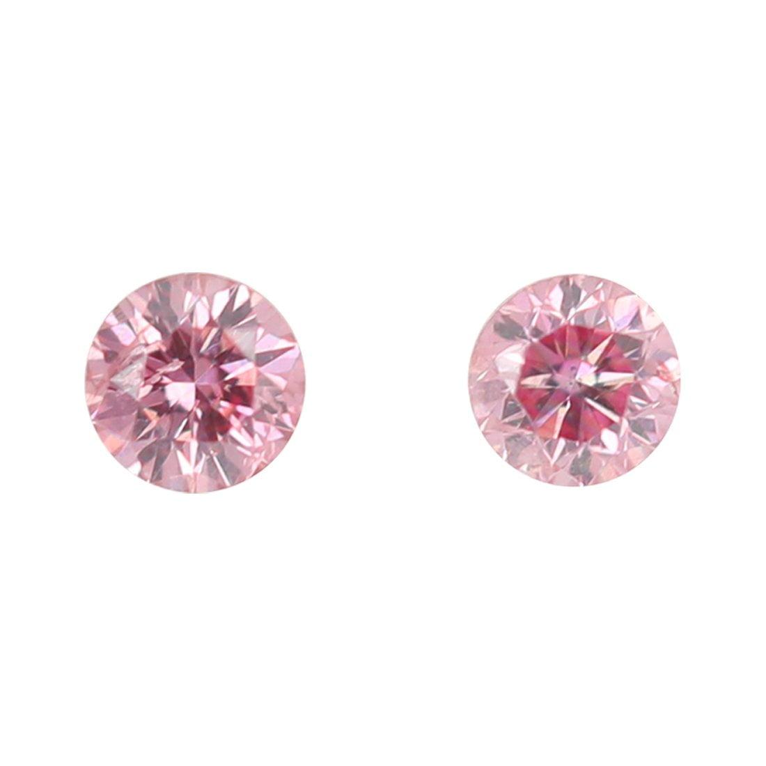 2 = 0.11ct Natural Fancy Purplish Pink, 4PP Argyle Diamond