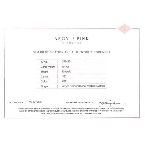 0.47ct Natural Fancy Pink, 6PR Argyle Diamond