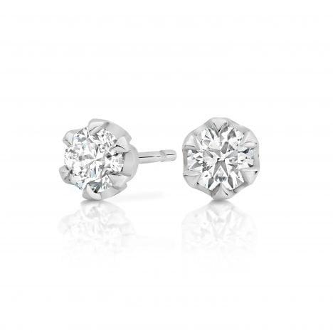 Signature Diamond Studs 6 Claw