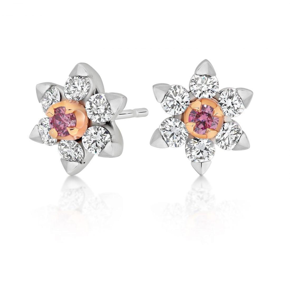 Fiore Argyle Pink Diamond Earrings