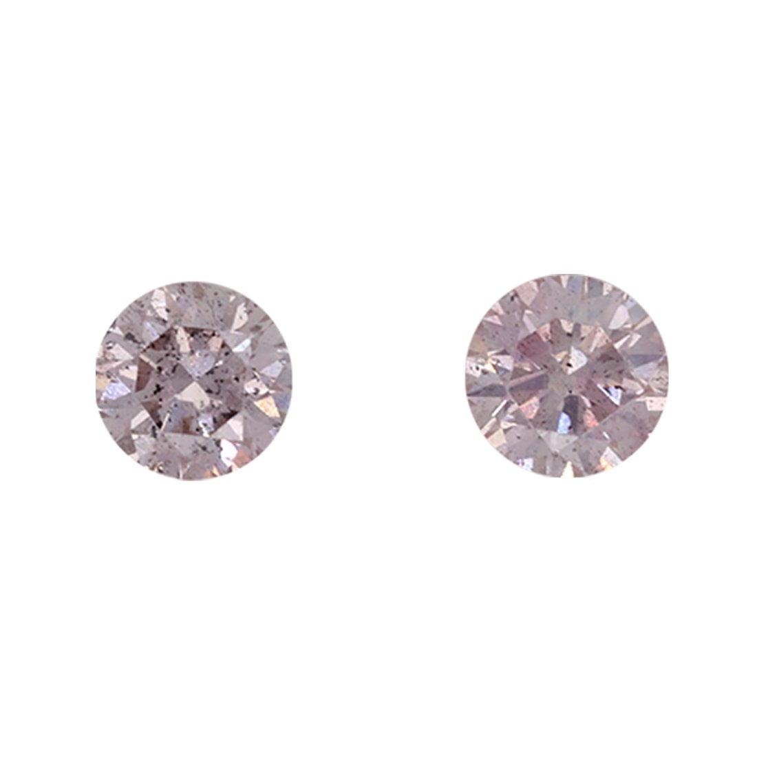 2=0.39ct Natural Fancy Light Pink Orange, 8P Argyle Diamond