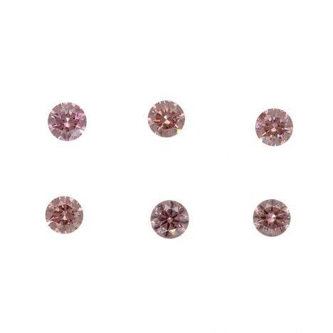 6=0.26ct Natural Fancy Intense Pink, 6P, SI2, Argyle Pink Diamond