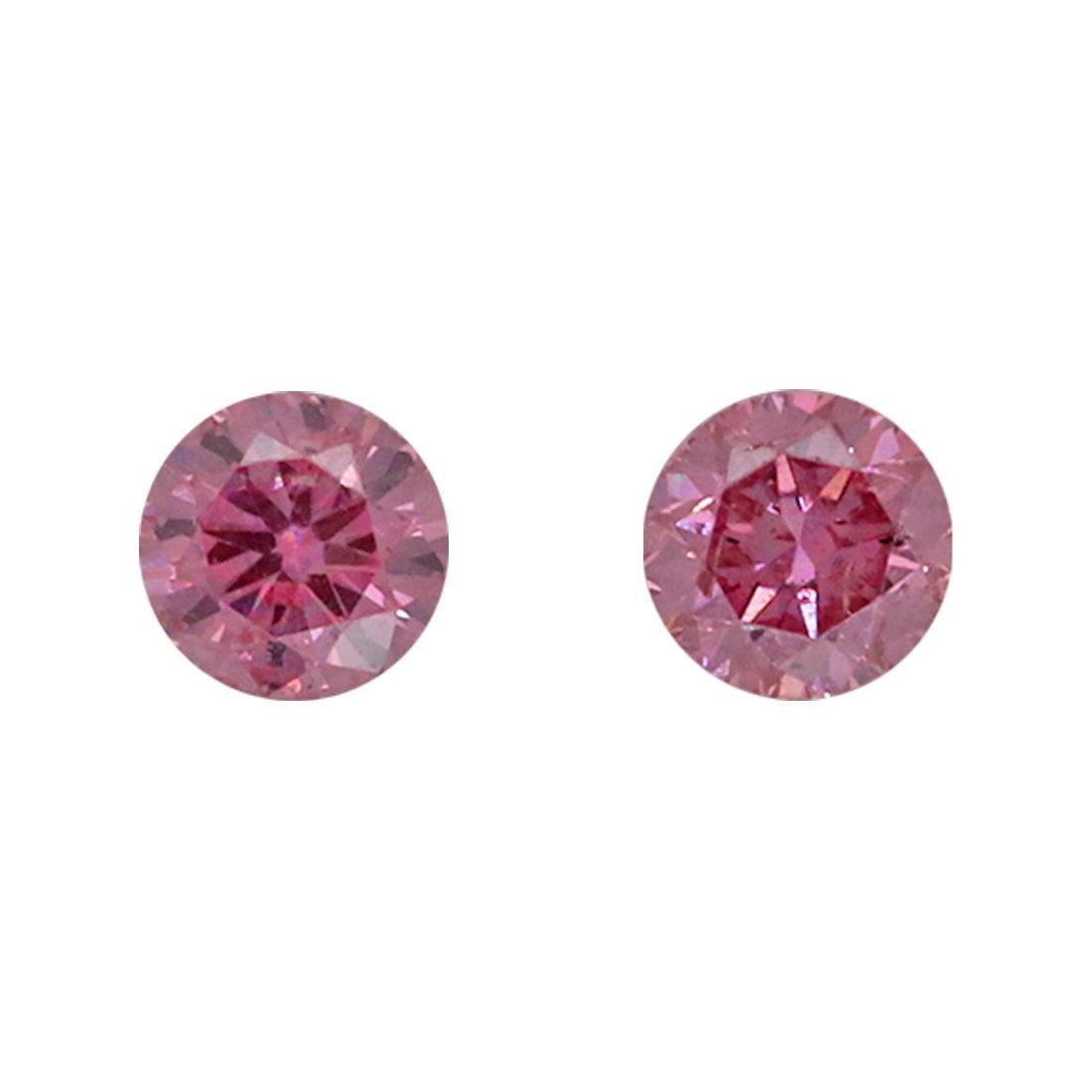 2=0.08ct Natural Fancy Vivid Pink, 3PP, SI2, Argyle Pink Diamond