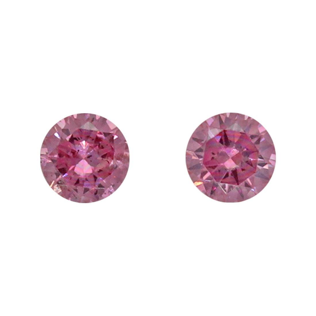 2=0.11ct Natural Fancy Vivid Purplish Pink, 3PP, I1, Argyle Pink Diamond