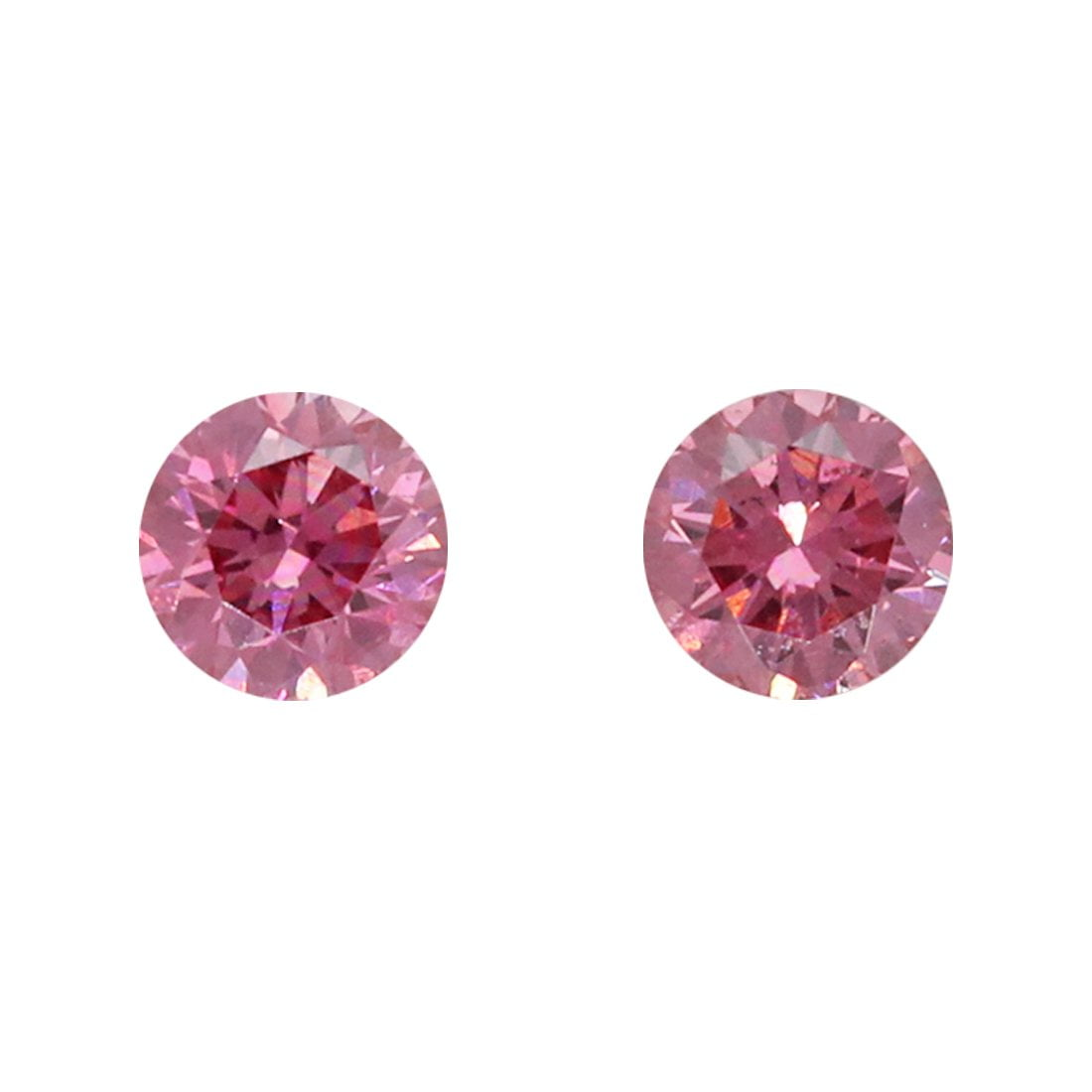 2=0.13ct Natural Fancy Vivid Purplish Pink, 3PP Argyle Diamond