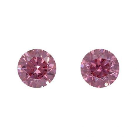 2=0.15ct Natural Fancy Vivid Pink/Purplish Pink, 4PP, SI1, Argyle Pink Diamond