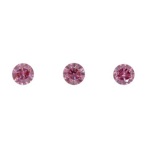 3=0.16ct Natural Fancy Vivid Pink/Purplish Pink, 3P Argyle Diamond
