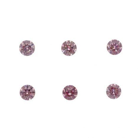 6=0.28ct Natural Fancy Intense Purplish Pink/Pink, 6P Argyle Diamond