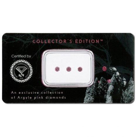 3=0.16ct Natural Fancy Intense Pink / Purplish Pink, 4PP, SI1, Argyle Pink Diamond