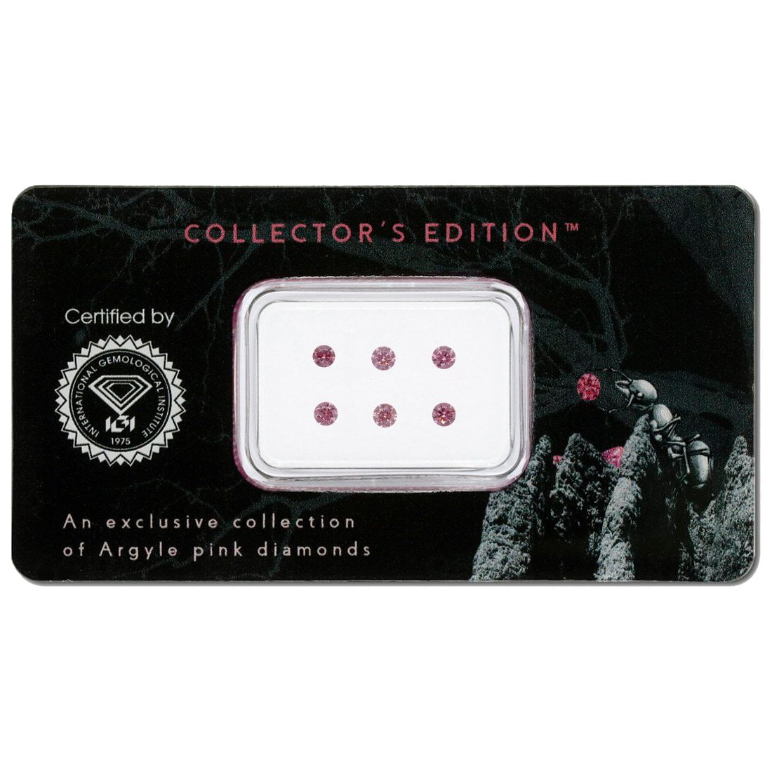 6=0.32ct Natural Fancy Intense Pink/Purplish Pink, 4P, I1, Argyle Pink Diamond