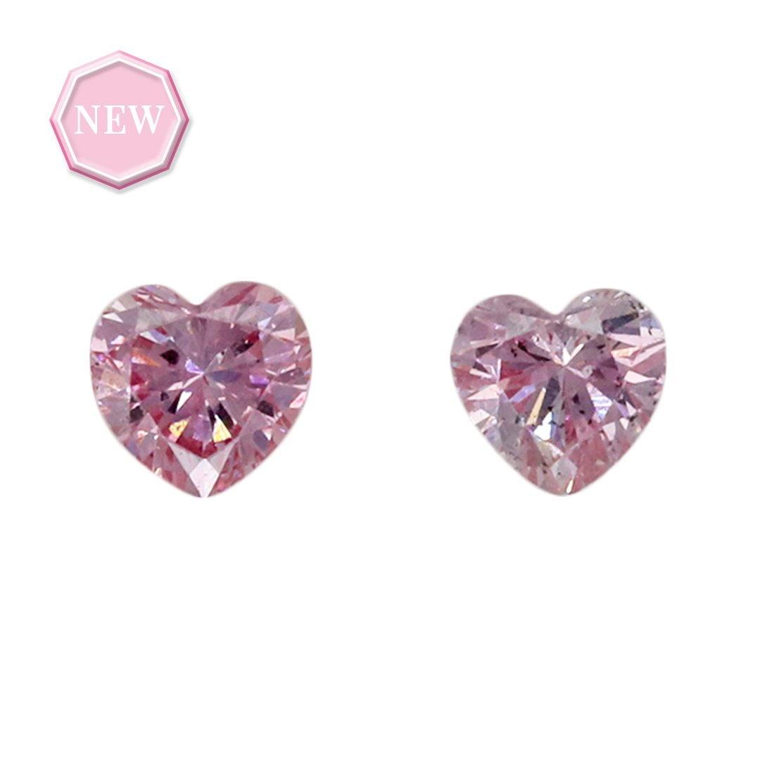2 = 0.09ct Natural Fancy Purplish Pink / Intense Purplish Pink SI1, 6PP Argyle Diamond