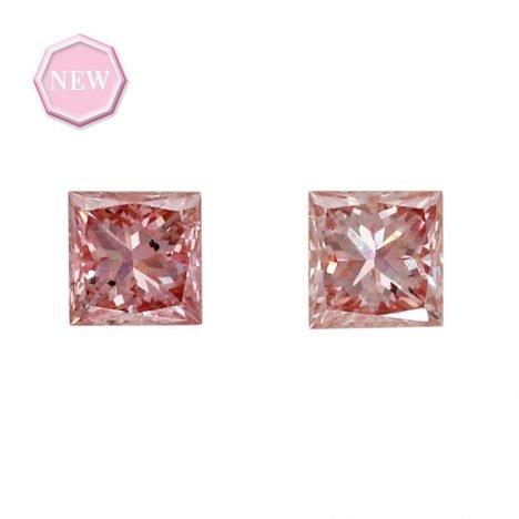 2 = 0.14ct Natural Fancy Intense Pink SI1, 5P Argyle Diamond