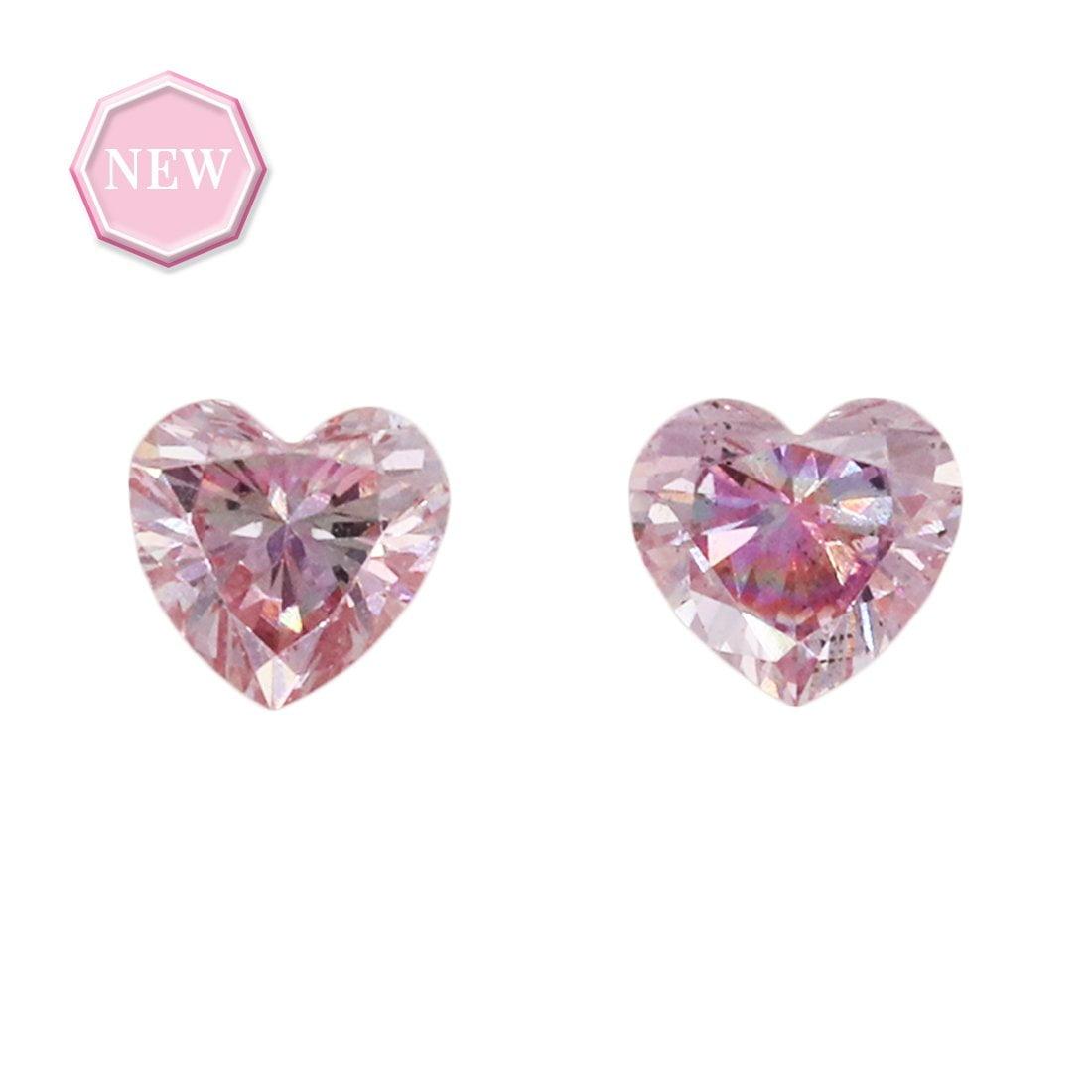 2 = 0.14ct Natural Fancy Purplish Pink SI1, 6PP Argyle Diamond