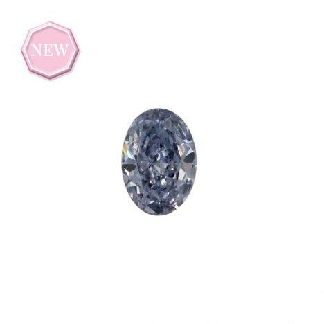 0.11ct Natural Fancy Intense Blue Grey VVS1, BL2+ Argyle Diamond
