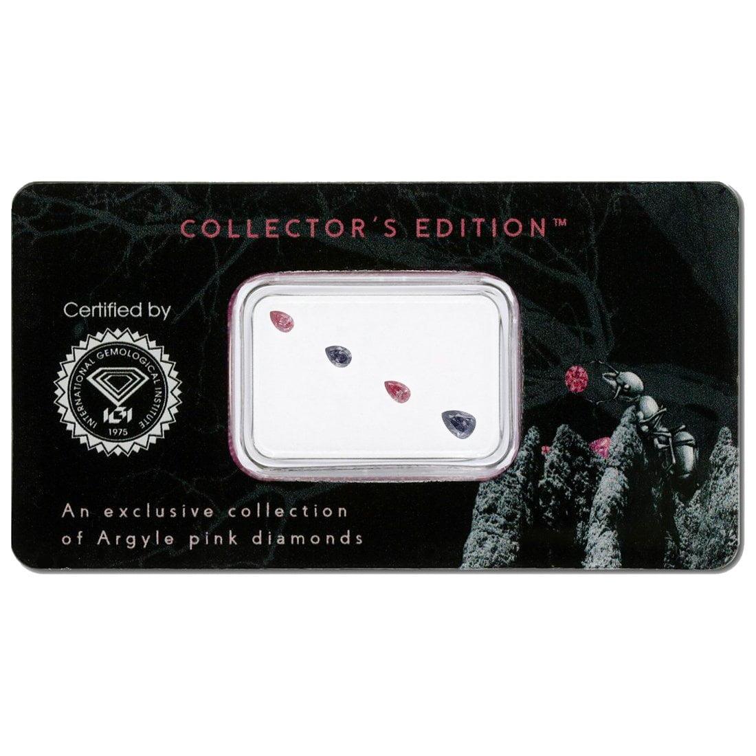 4=0.18ct Natural Fancy Intense Purplish Pink / Intense Grey Violet, BL3/3PP, VS2, Argyle Pink Diamond