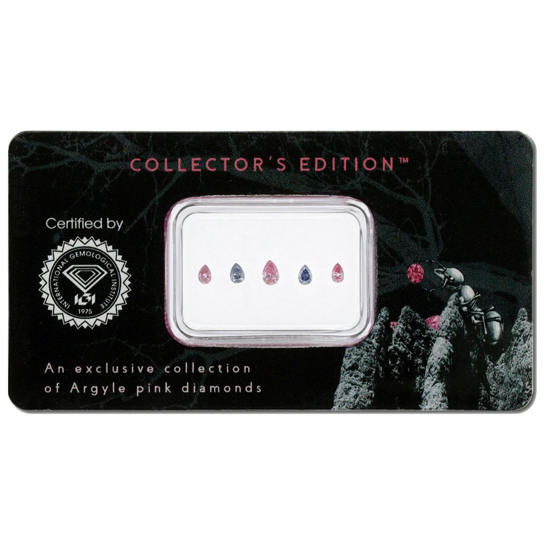 5=0.28ct Natural Fancy Intense Pink / Intense Grey Violet, BL3 / 5PP, SI2, Argyle Pink Diamond
