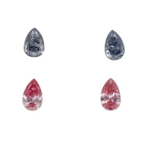 4 = 0.33ct Natural Fancy Intense Pink / Intense Grey Blue VS2, BL3 / 5PP Argyle Diamond