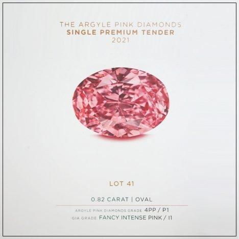 0.82ct Natural Fancy Intense Pink, 4PP Argyle Tender Diamond