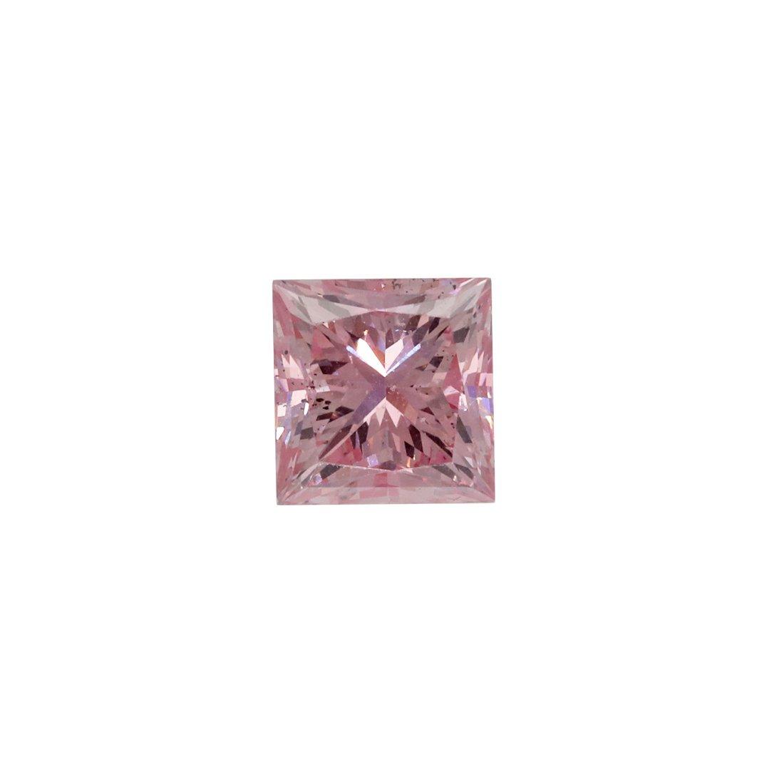 0.49ct Natural Fancy Intense Pink, 6P, SI2, Argyle Pink Diamond