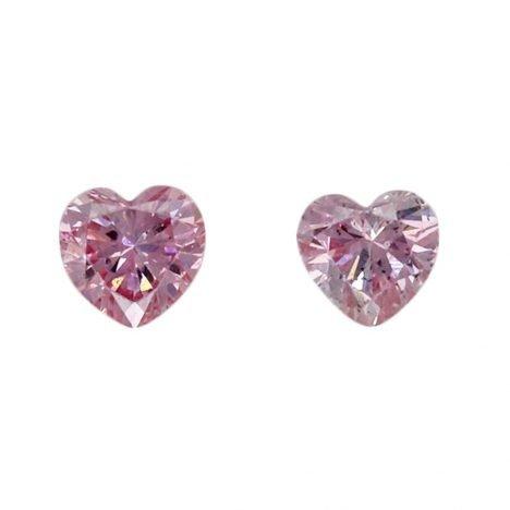 2=0.09ct Natural Fancy Purplish Pink / Intense Purplish Pink, 6PP, SI1, Argyle Pink Diamond