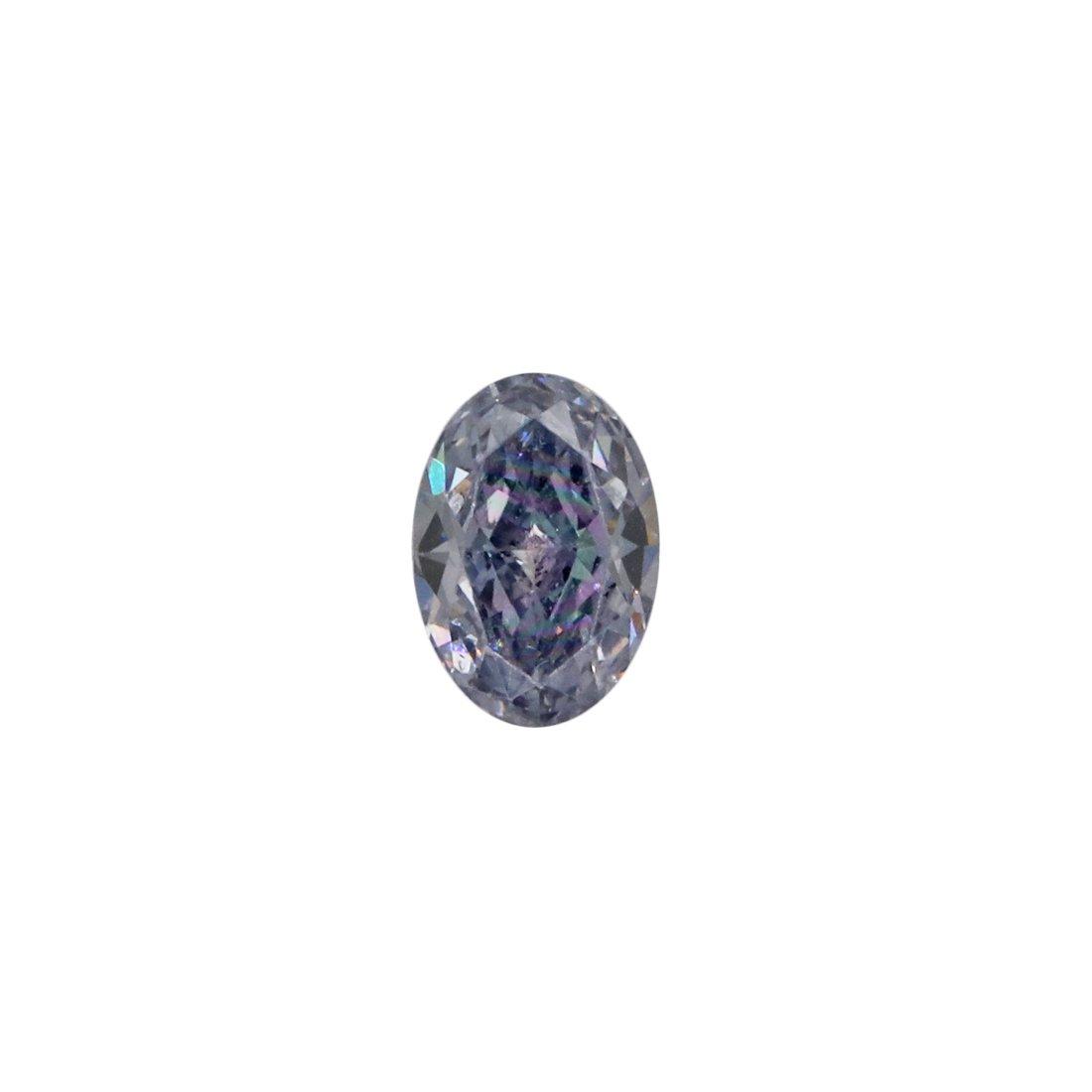 0.11ct Natural Fancy Intense Blue Grey, BL2+, VS2, Argyle Pink Diamond