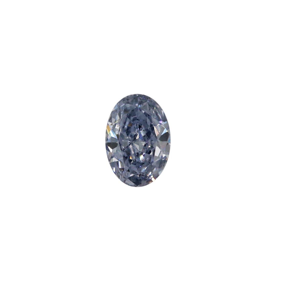 0.11ct Natural Fancy Intense Blue Grey, BL2+, VVS1, Argyle Pink Diamond