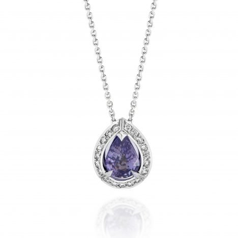 Sun Struck Purple Sapphire Pendant