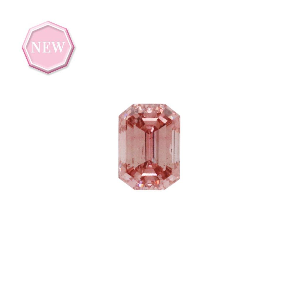 0.17ct Natural Fancy Deep Pink, 4PR, SI2, Argyle pink diamond
