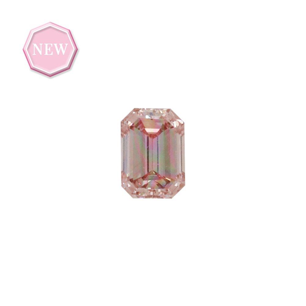0.22ct Natural Fancy Intense Orangy Pink, 6PR, VS1, Argyle pink diamond