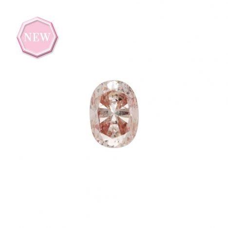0.16ct Natural Fancy Light Orangy Pink, 7PR, SI2, Argyle pink diamond